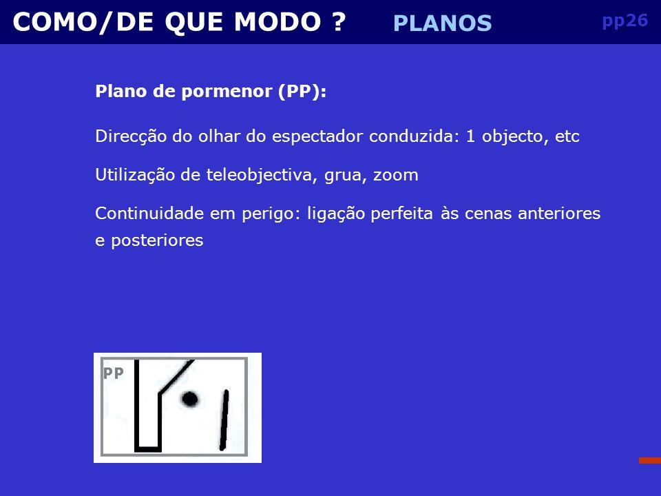 pp25 COMO/DE QUE MODO .