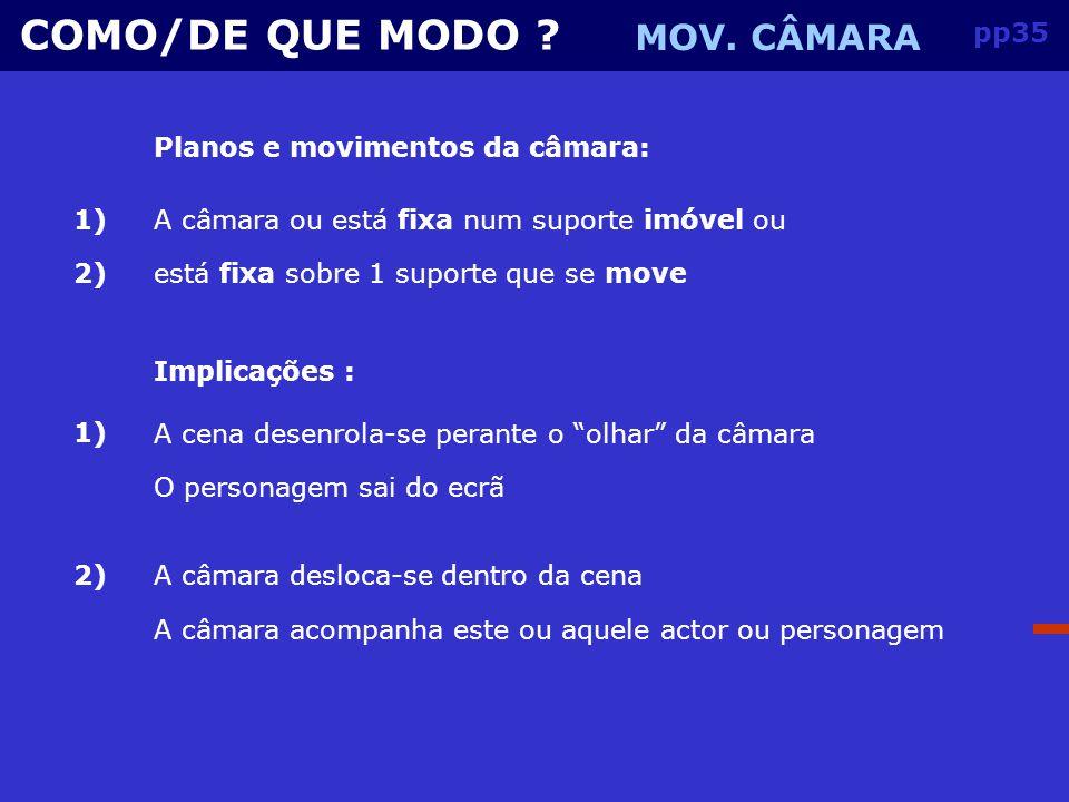 pp34 COMO/DE QUE MODO .