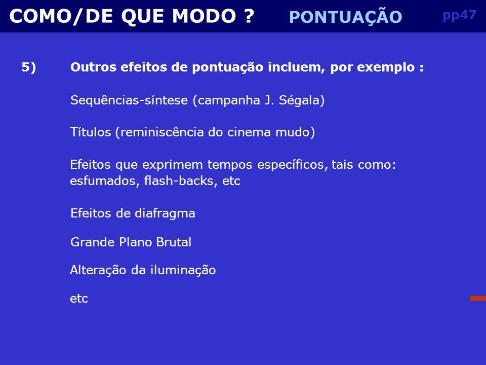 pp46 COMO/DE QUE MODO .
