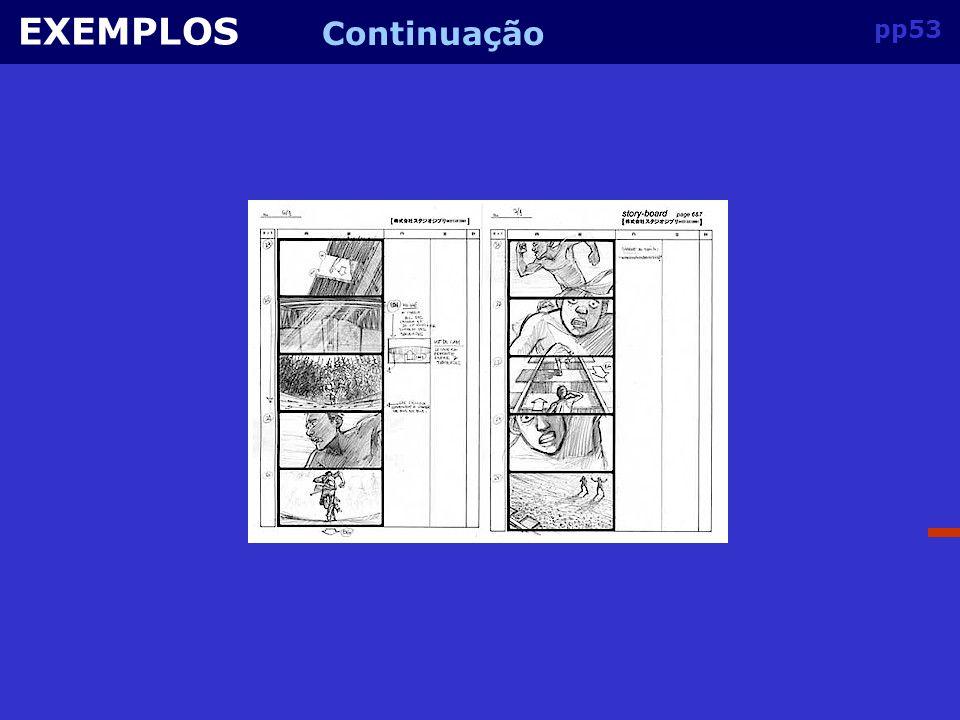 pp52 EXEMPLOS Do desenho ao filme do esboço inicial à imagem para o storyboard até ao filme