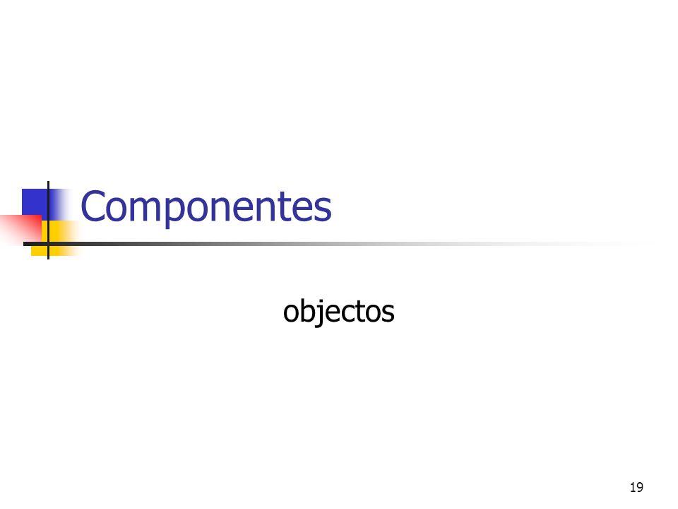 19 Componentes objectos