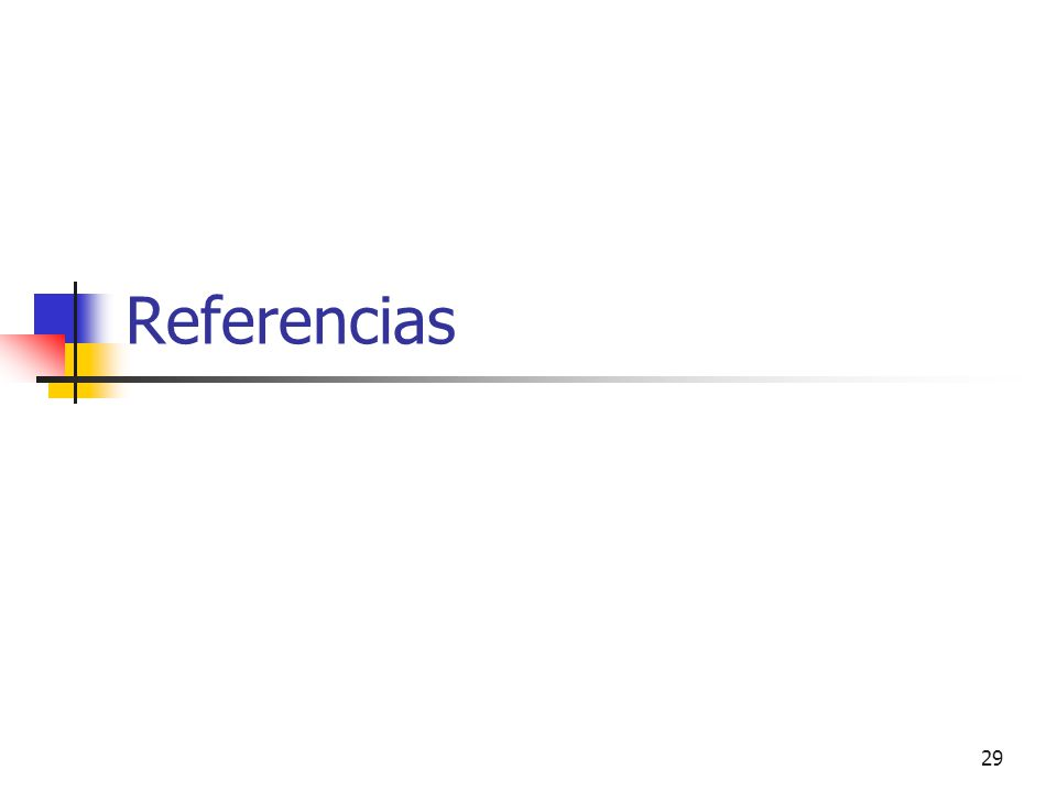 29 Referencias