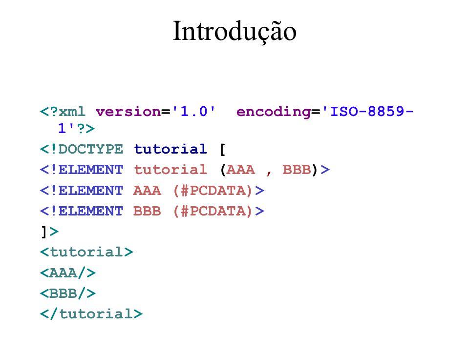 IDREF Um atributo IDREF deve referencia algum ID existente no documento.