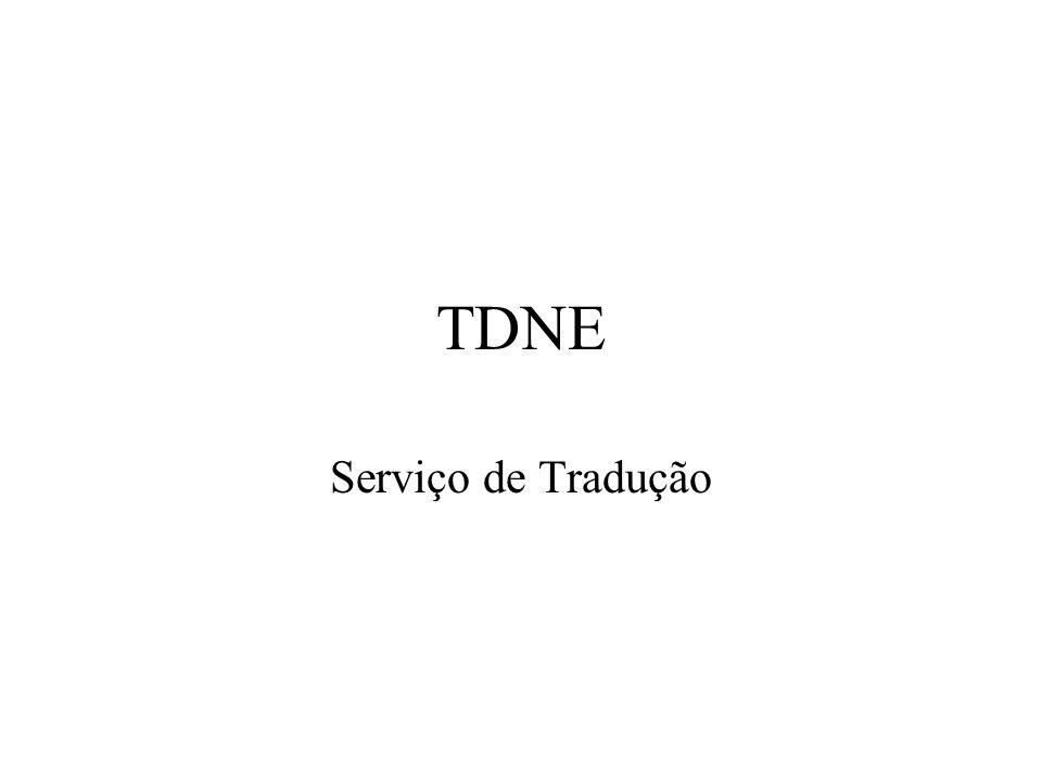 TDNE Serviço de Tradução