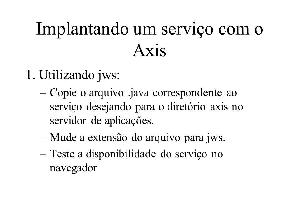 Implantando um serviço com o Axis 1.