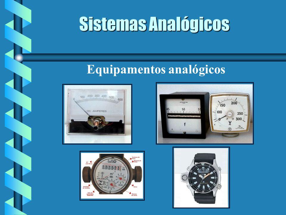 Sistemas Digitais Grandezas físicas discretas, descontínuas no tempo