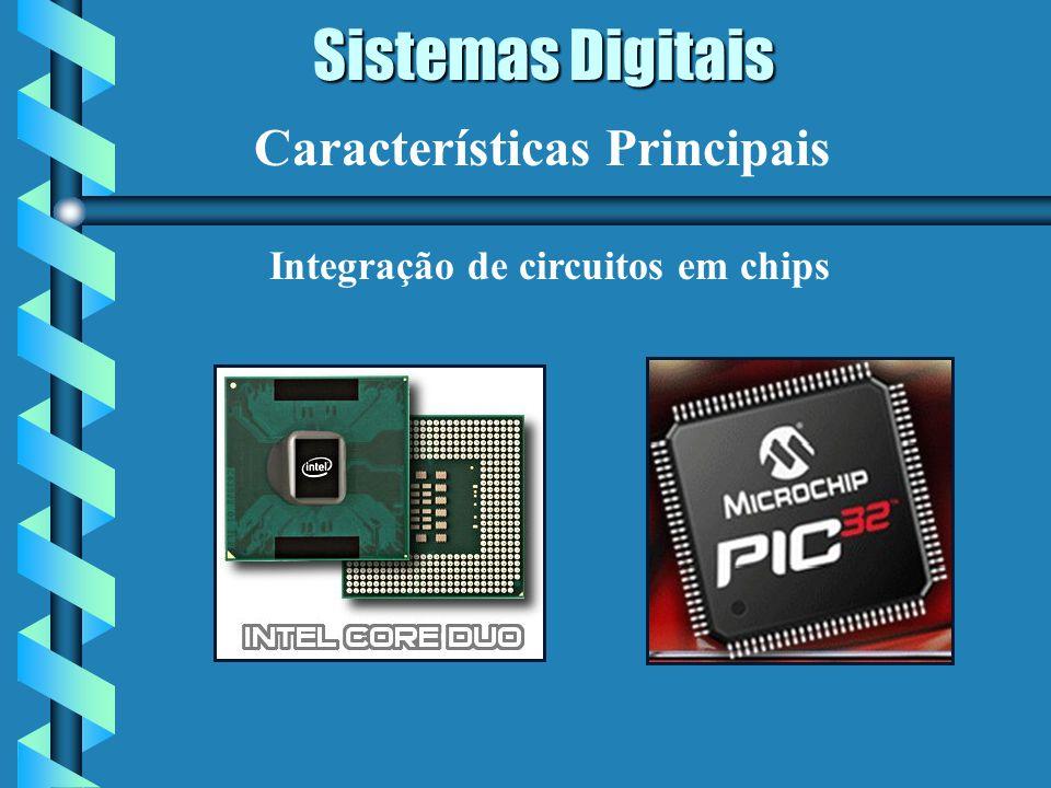Sistemas Digitais Características Principais Integração de circuitos em chips