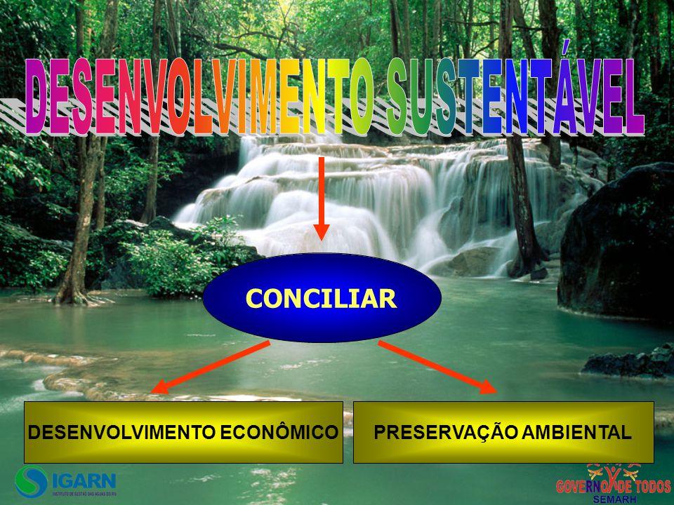 CONCILIAR DESENVOLVIMENTO ECONÔMICOPRESERVAÇÃO AMBIENTAL
