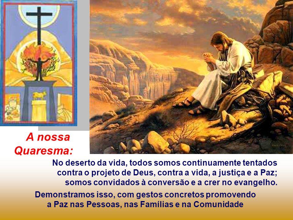Após ser Batizado e ter superado as Tentações do diabo no DESERTO, onde ficou por 40 DIAS em oração e penitência, Jesus inicia seu trabalho apostólico, anunciando: O Reino já chegou...
