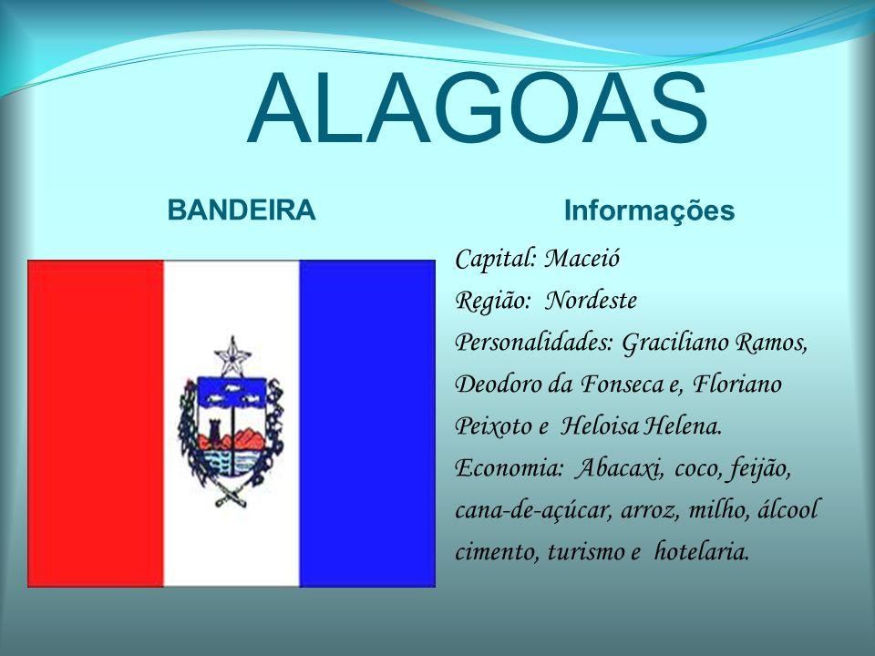 AMAPÁ BANDEIRA Informações Capital: Macapá Região: Norte Personalidades: José Sarney, Dalva Figueiredo e Lucenina Pimentel.