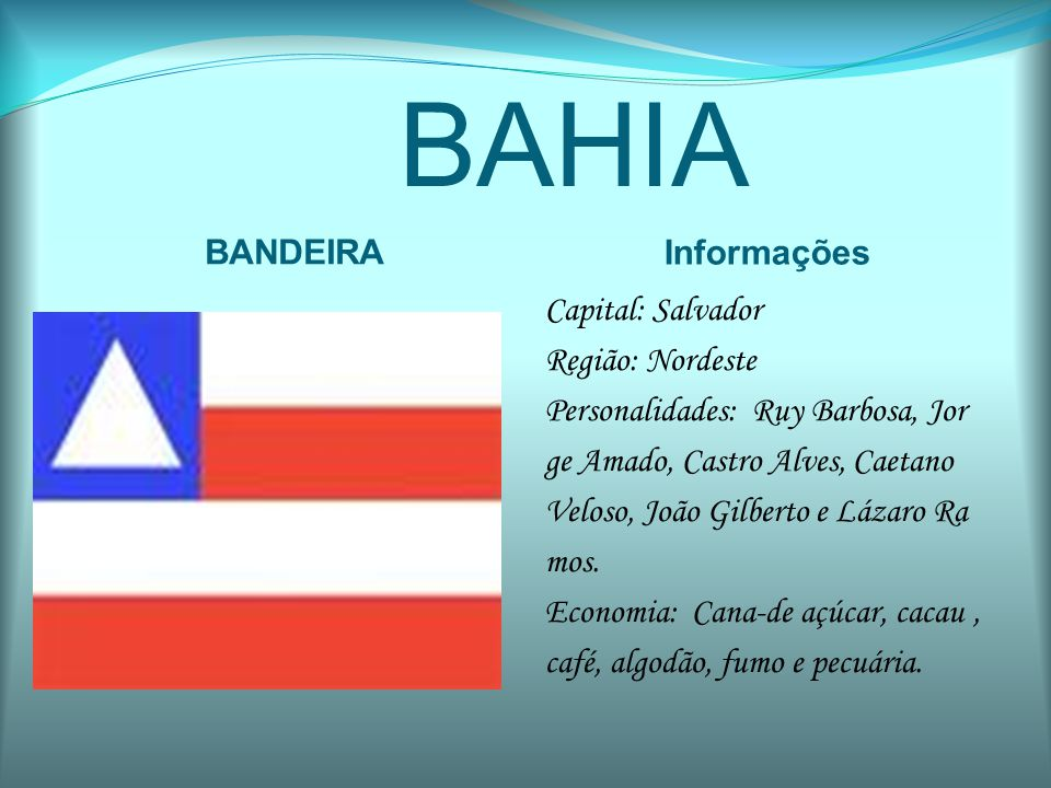 CEARÁ BANDEIRA Informações Capital: Fortaleza Região: Nordeste Personalidades: Inácio Arruda, Patrícia Saboya e Tasso Jereissati.