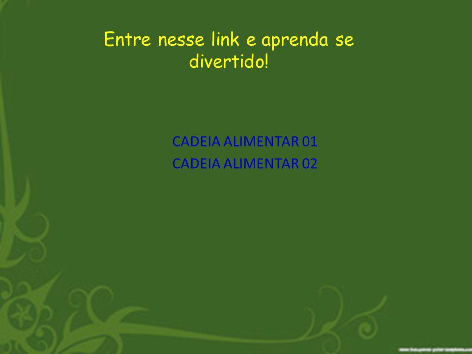 CADEIA ALIMENTAR 01 Entre nesse link e aprenda se divertido! CADEIA ALIMENTAR 02