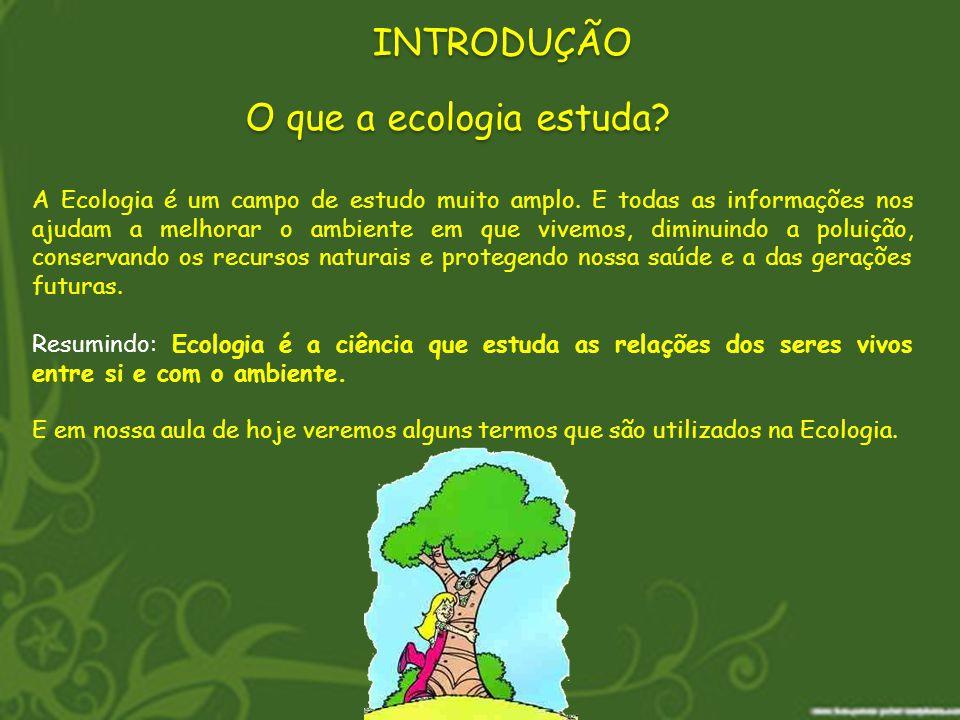 O que a ecologia estuda? A Ecologia é um campo de estudo muito amplo. E todas as informações nos ajudam a melhorar o ambiente em que vivemos, diminuin