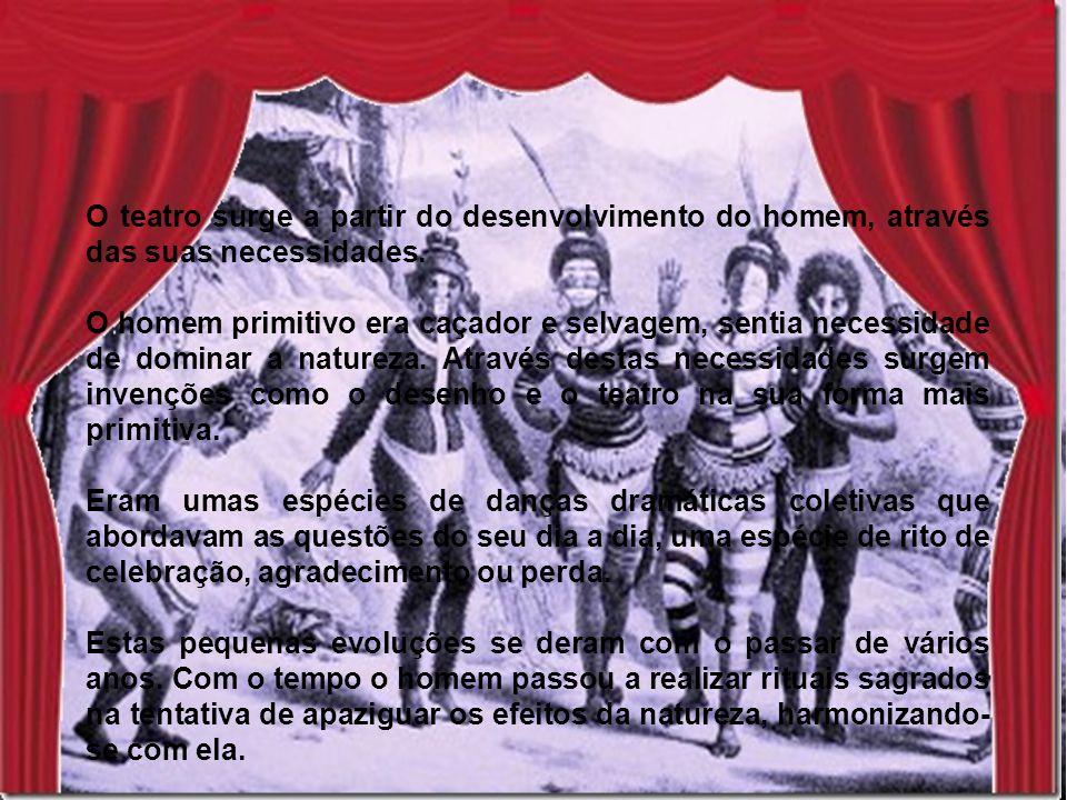Os ritos começaram a evoluir, surgem danças miméticas, os homens praticam a MIMESIS (mímica) e as mulheres cantam.