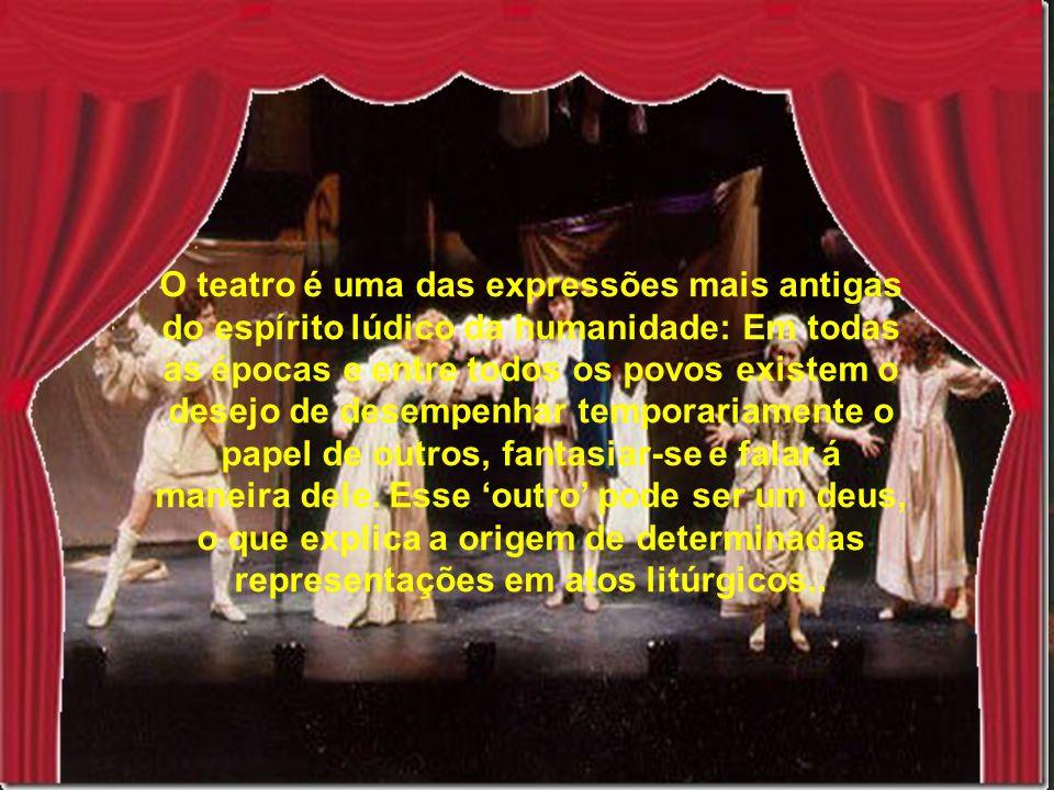 Tipos de Teatro Pantomima é a arte de narrar com o corpo.