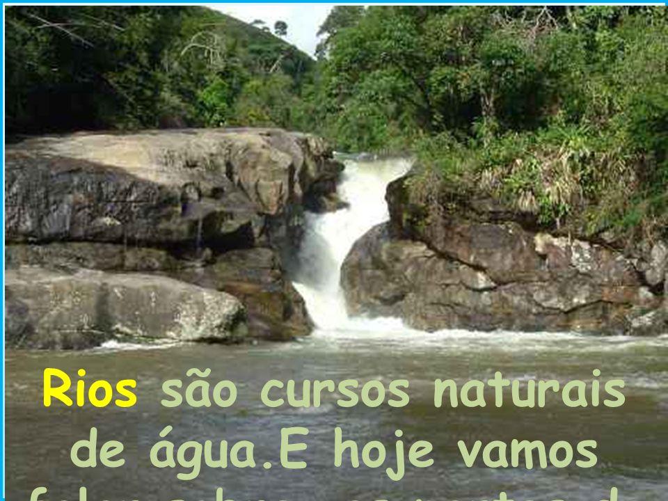 Rios são cursos naturais de água.E hoje vamos falar sobre as partes do rio.