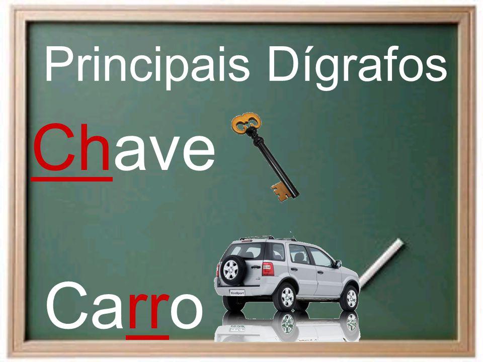 Principais Dígrafos Chave Carro