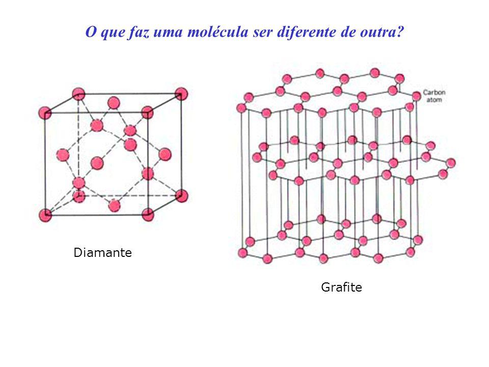 O que faz uma molécula ser diferente de outra? Diamante Grafite