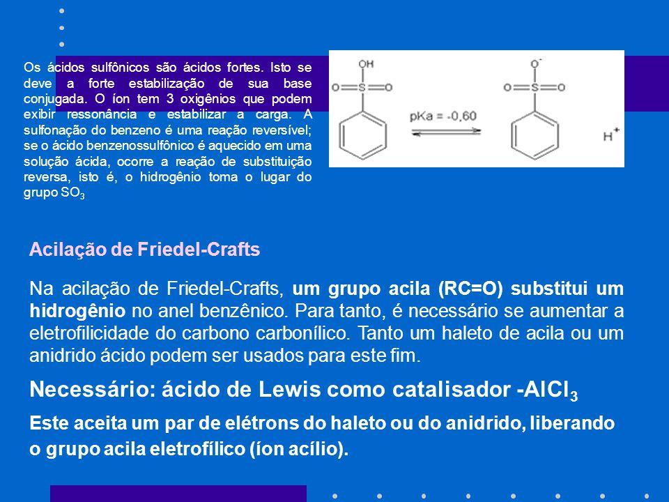 Os ácidos sulfônicos são ácidos fortes. Isto se deve a forte estabilização de sua base conjugada. O íon tem 3 oxigênios que podem exibir ressonância e