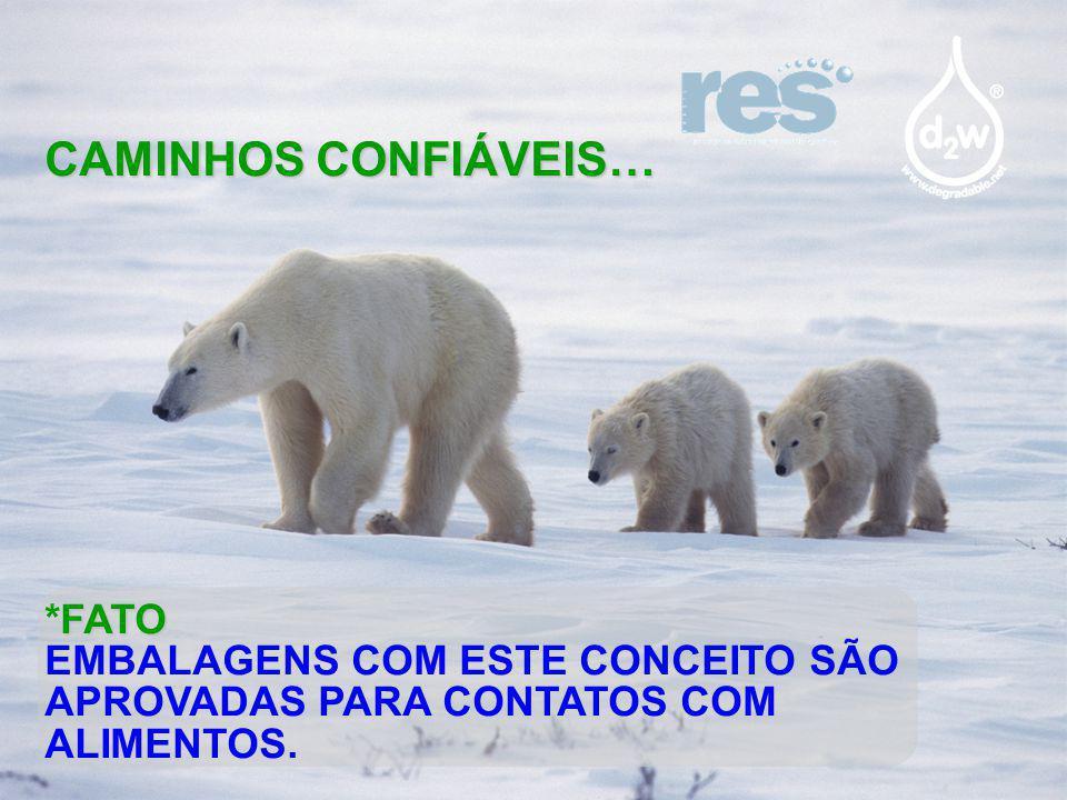 CAMINHOS CONFIÁVEIS… FATO *FATO EMBALAGENS COM ESTE CONCEITO SÃO APROVADAS PARA CONTATOS COM ALIMENTOS.