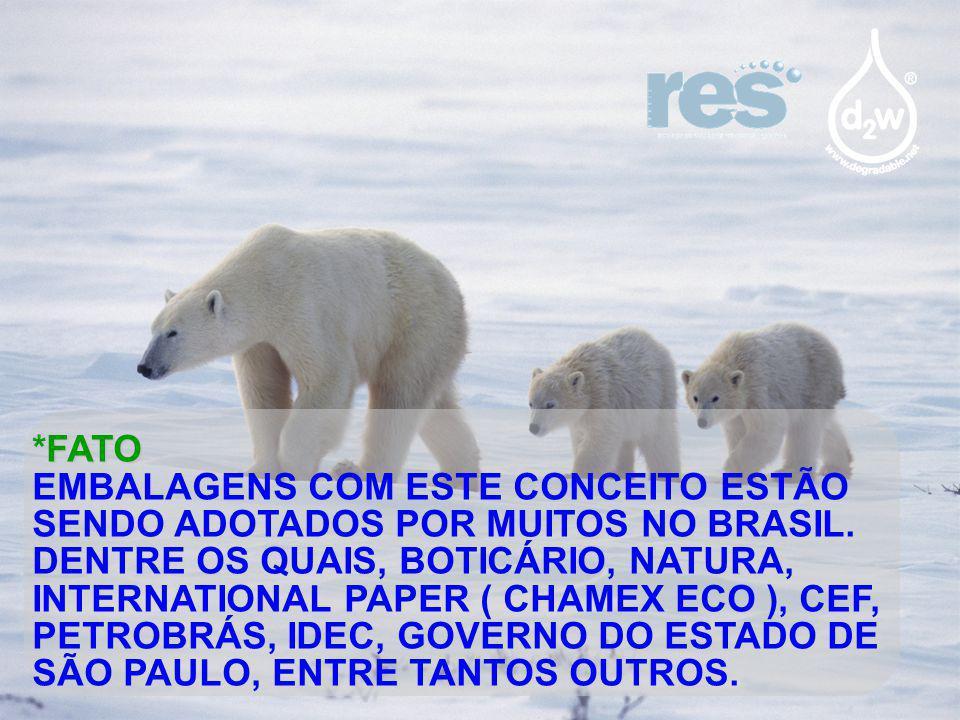 FATO *FATO EMBALAGENS COM ESTE CONCEITO ESTÃO SENDO ADOTADOS POR MUITOS NO BRASIL. DENTRE OS QUAIS, BOTICÁRIO, NATURA, INTERNATIONAL PAPER ( CHAMEX EC