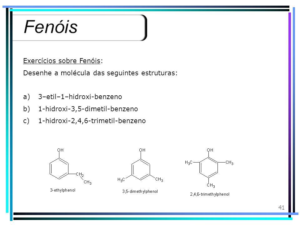 40 A fenolftaleína é usada como indicador ácido-base porque adquire cor conforme o meio: