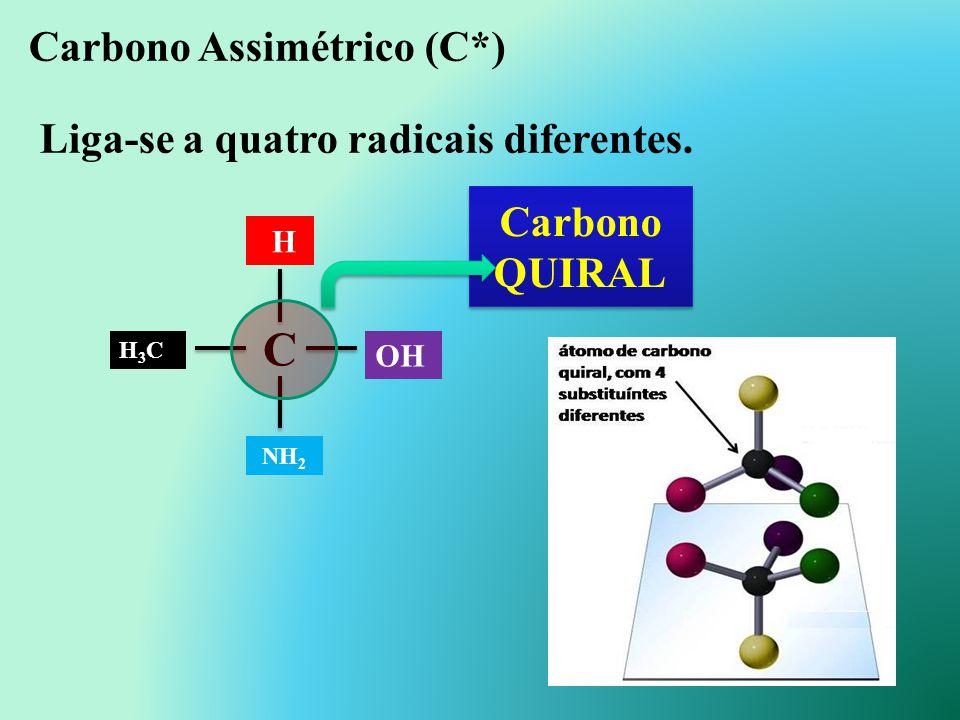 Carbono terciário: é o carbono que se liga diretamente a três outros carbonos. Carbono quaternário: é o carbono que se liga diretamente a quatro outro