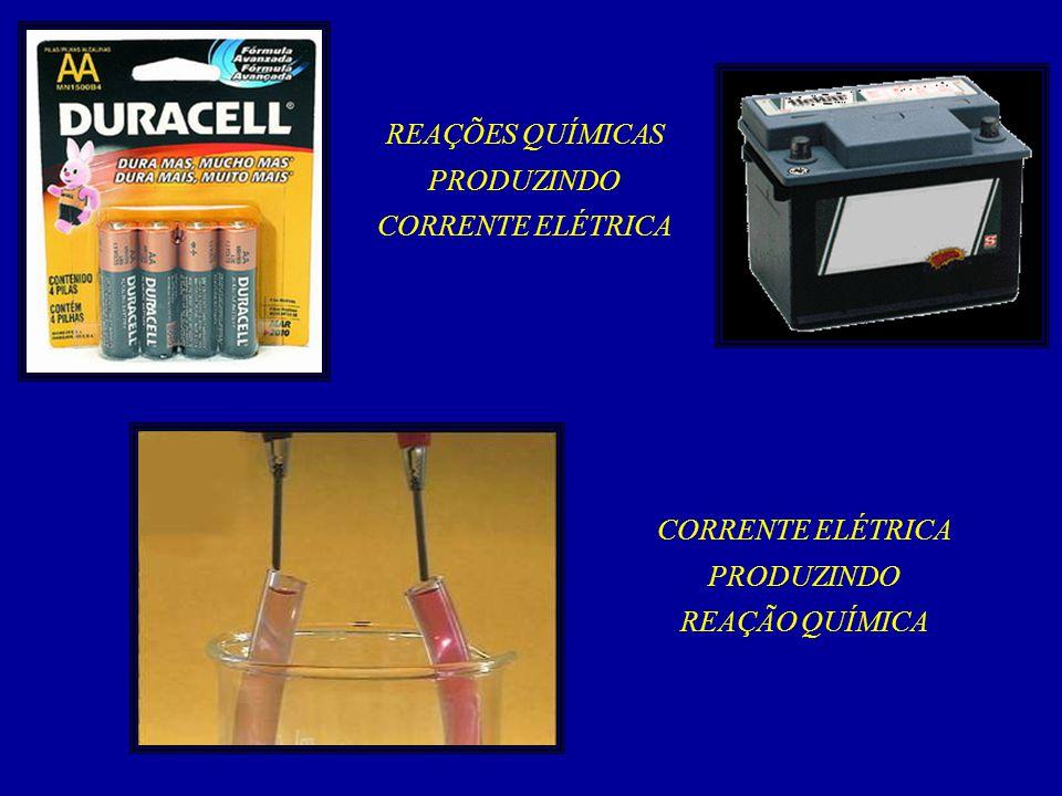 A relação entre as reações químicas e a corrente elétrica é estudada por um ramo da química chamado ELETROQUÍMICA Quando uma reação química de óxido redução, espontânea, produz energia elétrica teremos uma PILHA ELETROQUÍMICA Quando uma corrente elétrica provoca uma reação química teremos uma ELETRÓLISE