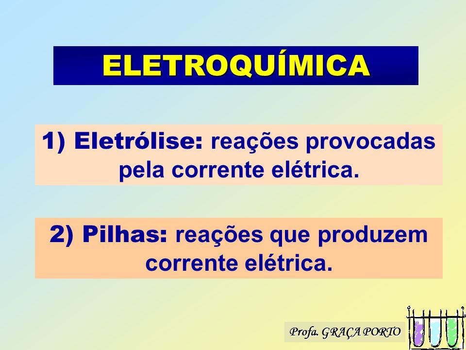Profa. GRAÇA PORTO * Eletrólise *Pilhas ELETROQUÍMICA