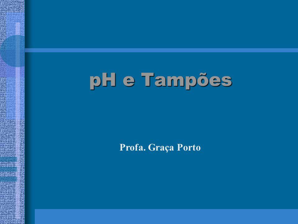 pH e Tampões pH e Tampões Profa. Graça Porto
