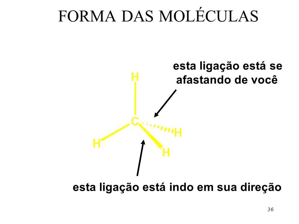 35 FORMA DAS MOLÉCULAS sp 3 - tetraédrica sp 3