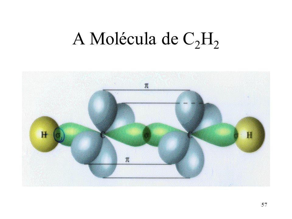 57 A Molécula de C 2 H 2