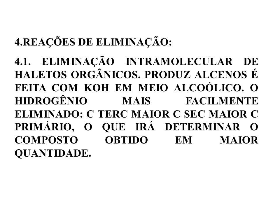 4.REAÇÕES DE ELIMINAÇÃO: 4.1.ELIMINAÇÃO INTRAMOLECULAR DE HALETOS ORGÂNICOS.
