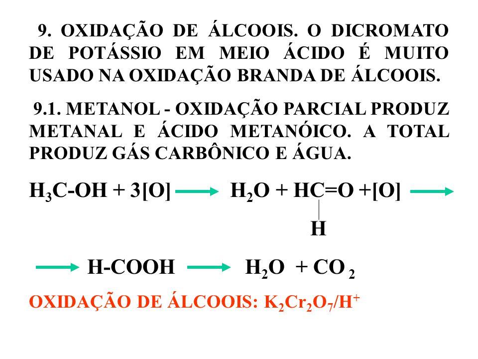 9.OXIDAÇÃO DE ÁLCOOIS.