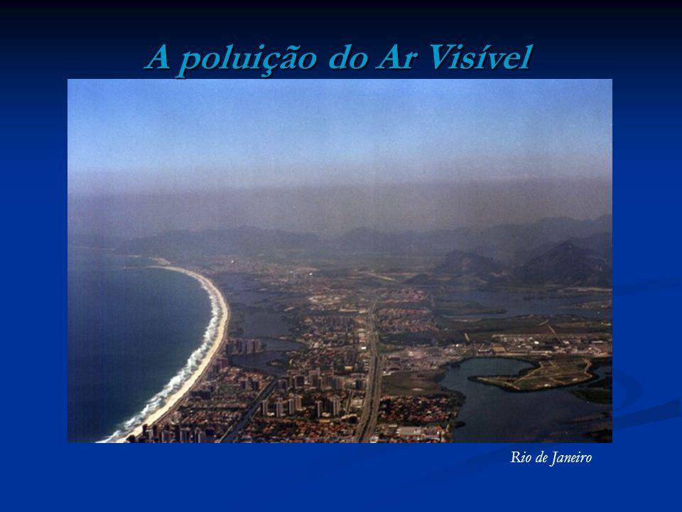 A poluição do Ar Visível Rio de Janeiro