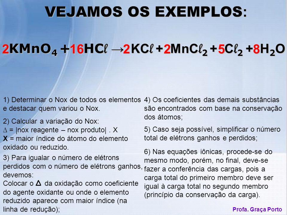 1) Determinar o Nox de todos os elementos e destacar quem variou o Nox.