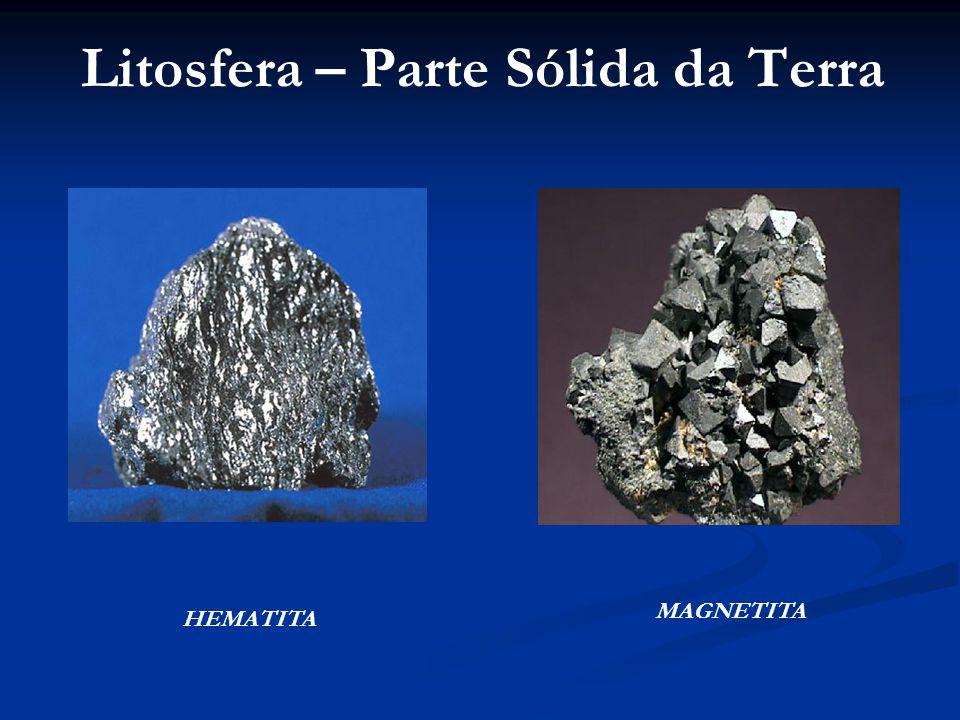 Litosfera – Parte Sólida da Terra HEMATITA MAGNETITA