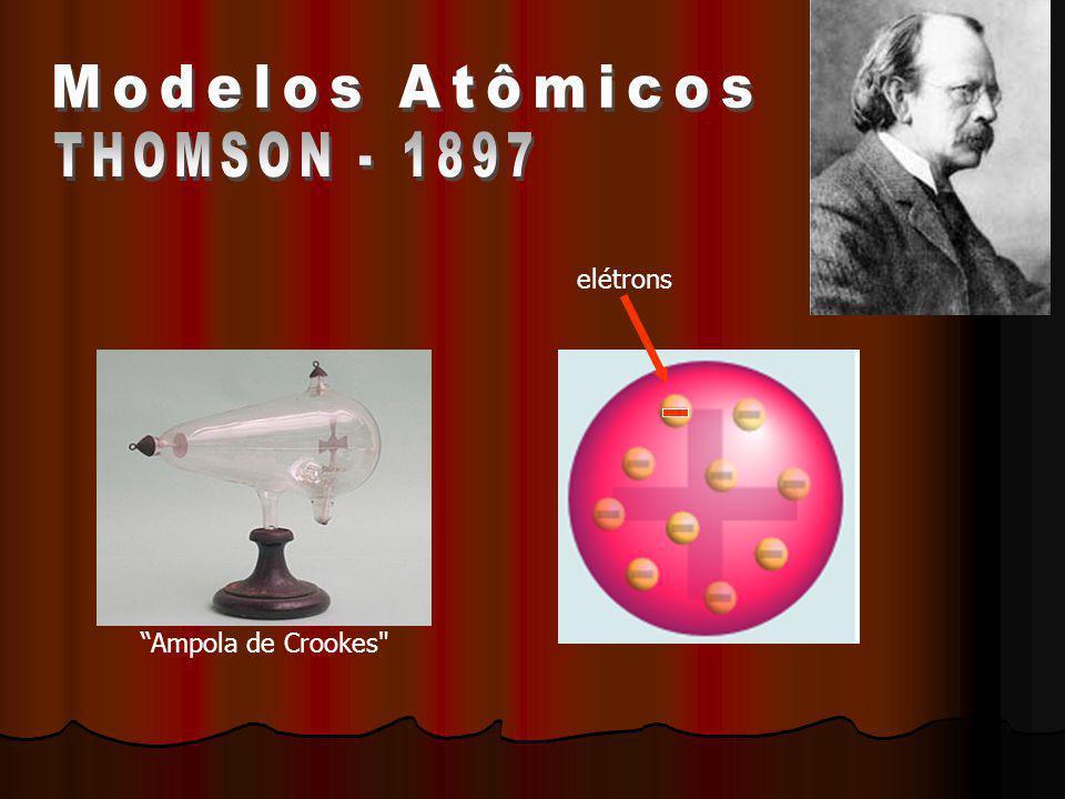 O átomo é uma esfera onde toda massa esta concentrada nesta esfera de maneira uniforme.