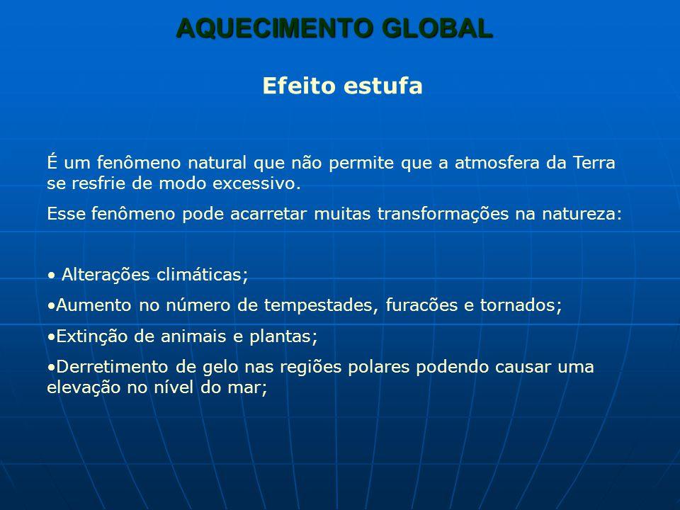 AQUECIMENTO GLOBAL Efeito estufa natural e artificial