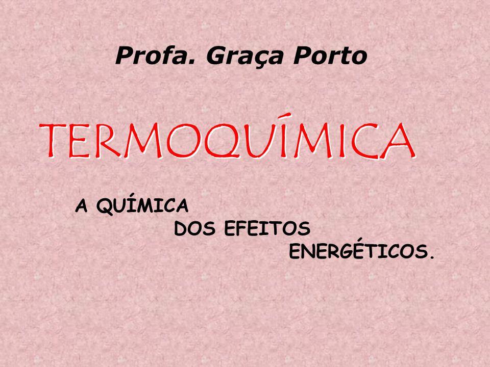 TERMOQUÍMICA A QUÍMICA DOS EFEITOS ENERGÉTICOS. Profa. Graça Porto