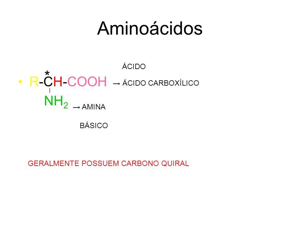 Formação das Proteínas Aminoácidos Proteínas Reação direta: Reação de condensação Reação Inversa: Reação de Hidrólise