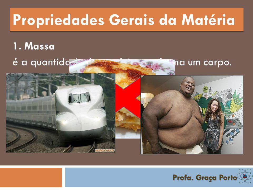 Profa.Graça Porto Propriedades Gerais da Matéria 1.