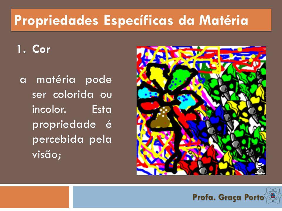 Profa. Graça Porto Propriedades Gerais da Matéria 7. Indestrutibilidade A matéria não pode ser criada nem destruída, apenas transformada.