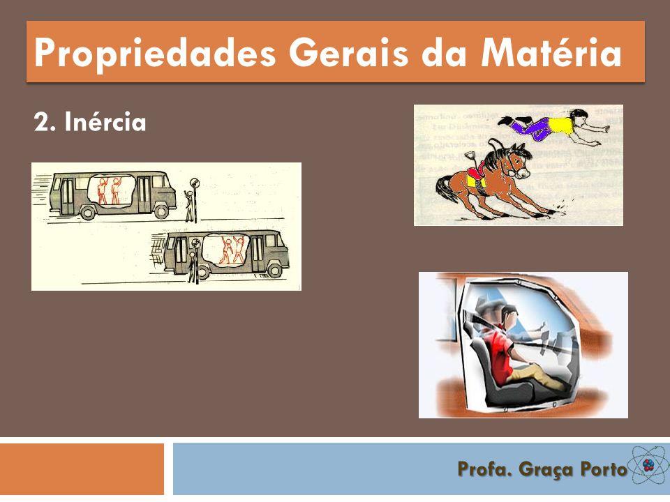 Profa. Graça Porto Propriedades Gerais da Matéria 2. Inércia