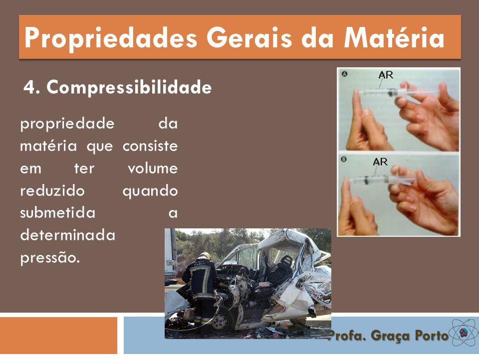 Profa. Graça Porto Propriedades Gerais da Matéria 3. Impenetrabilidade