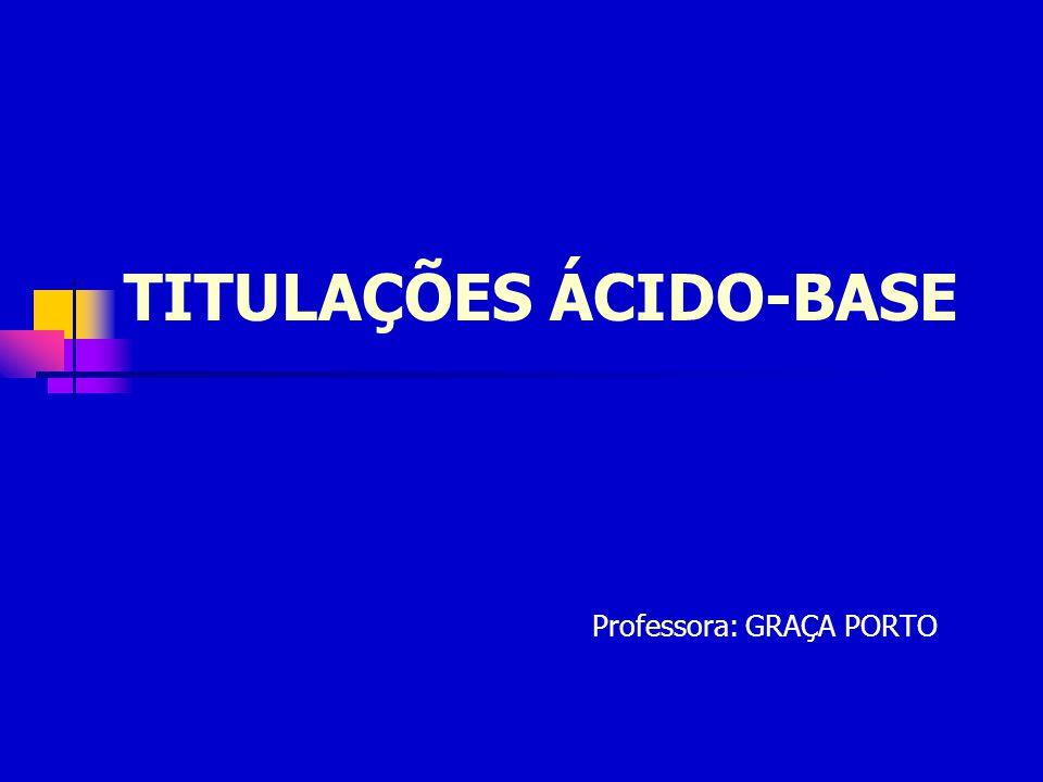 TITULAÇÕES ÁCIDO-BASE Professora: GRAÇA PORTO