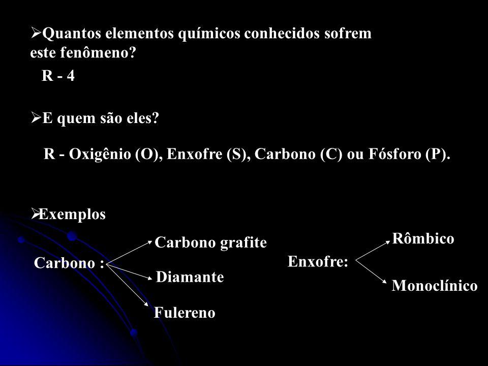 Quantos elementos químicos conhecidos sofrem este fenômeno.
