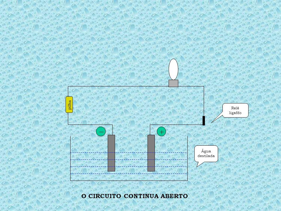 Água destilada pilha Pressionar relê