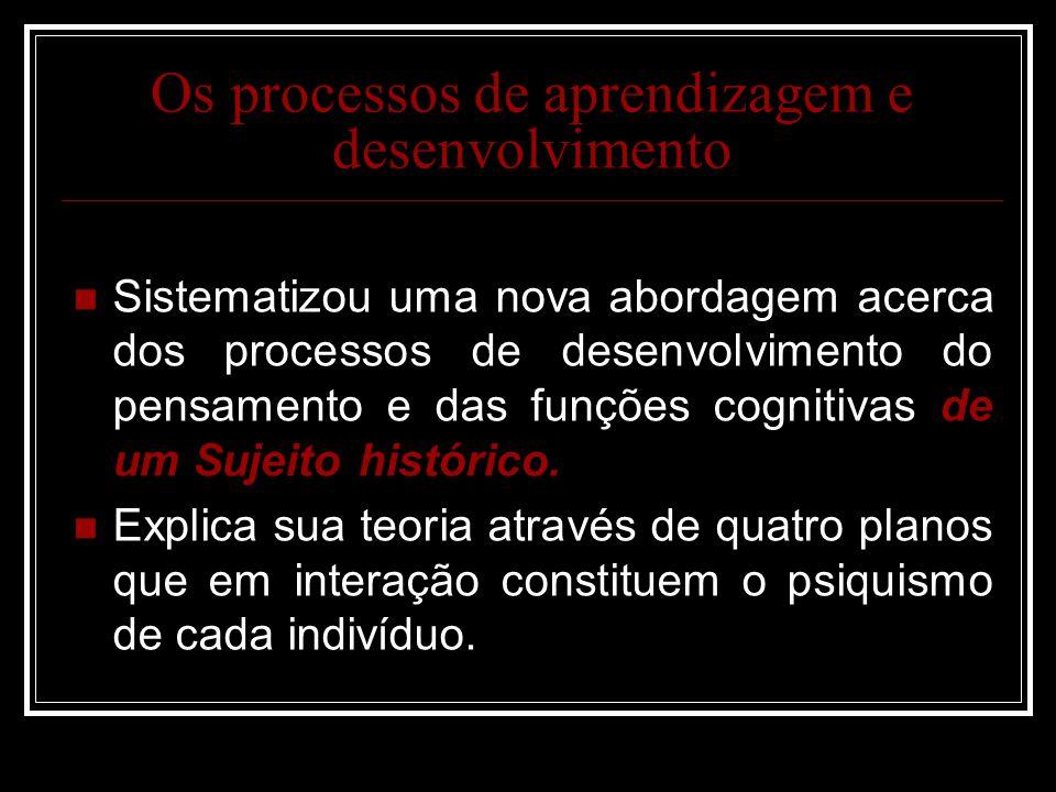 ESSES PLANOS SÃO: Filogênese (história da espécie humana); Sociogênese (história cultural); Ontogênese (percurso de vida do indivíduo); Microgênese (história das aprendizagens particulares).