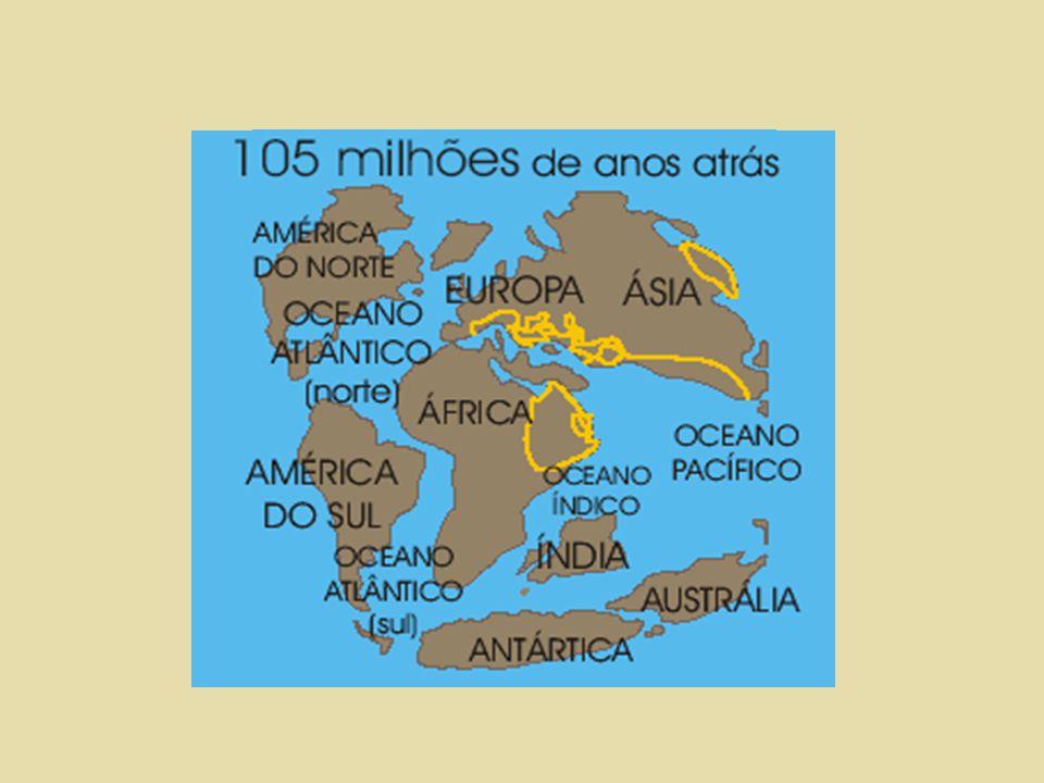 Dança dos continentes Aglutinação e fragmentação dos continentes ocorreram várias vezes na história do planeta